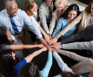 Ledarskap abc och ett team av folk